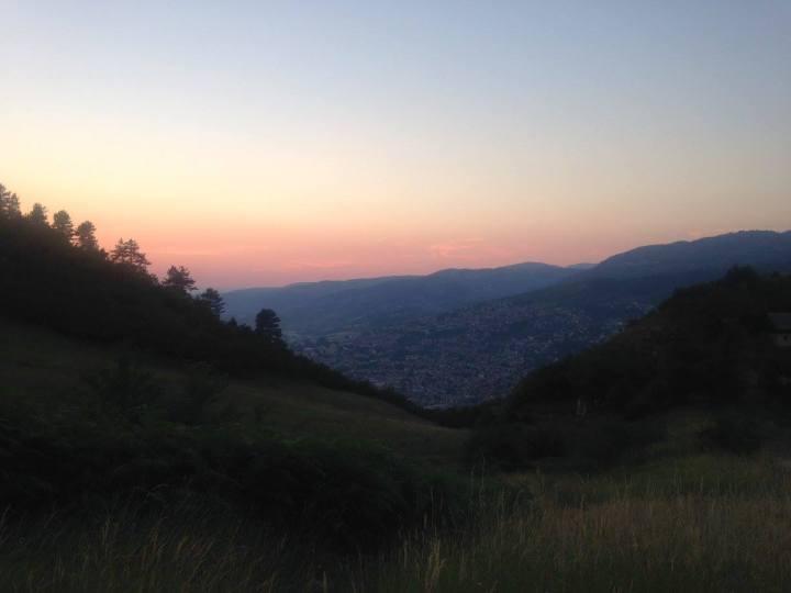 hike sarajevo sunset