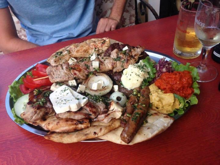 traditional bosnian meat platter